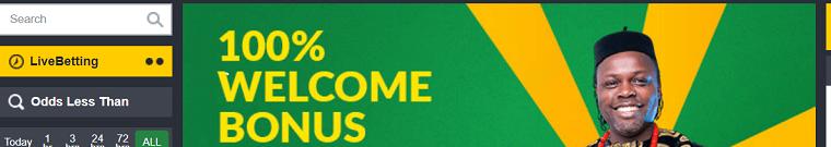 100% welcome bonus at bet9ja website